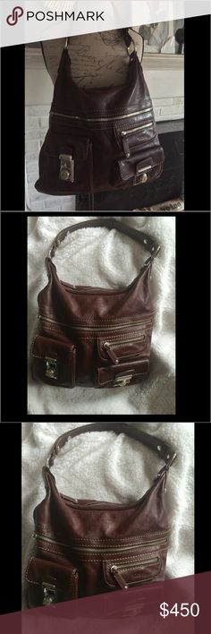 8edfe19adf Gorgeous TODS authentic hobo artisan leather bag Tods Medium hobo multi  pocket Beautiful artisan sophicated leather
