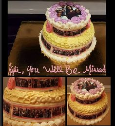 #goodbyecake #youwillbemissedcake #workcake #ediblepicturecake #goingawaycake #officecake
