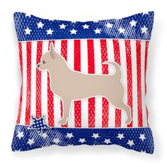 Carolines Treasures USA Patriotic Chihuahua Square Decorative Outdoor Pillow - BB3350PW1414