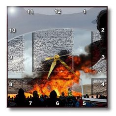 dpp_45374_1 Jos Fauxtographee Realistic - People Watching as Airplane Puts off Huge Puff of Smoke at an Airshow Textured and Raised in an Oval - Wall Clocks - 10x10 Wall Clock 3dRose http://www.amazon.com/dp/B007TCFFIY/ref=cm_sw_r_pi_dp_wkmFvb0CKG8F0