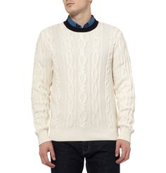 FaconnableCable-Knit Cotton and Cashmere-Blend Sweater|MR PORTER