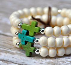 Trio of Turquoise Crosses