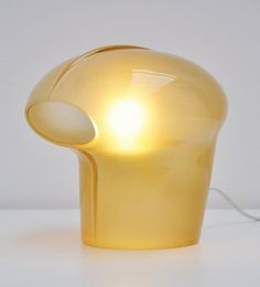 Gino Vistosi; Glass Table Lamp for Vistosi Murano, 1970.