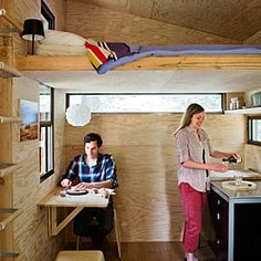 Great ideas for cabins and vacation homes | Tiny DIY cabin: Inside | Sunset.com