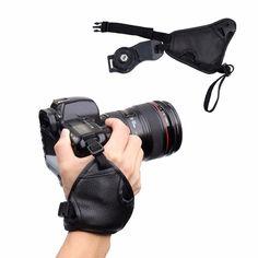 2017 Hot Camera bag Camera Wrist Strap PU Leather Hand belt for Canon Nikon Sony SLR/DSLR camera