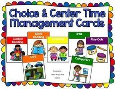 Choice time organization and management cards