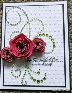 thankful for friendship card by Alyson Mayo