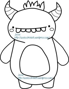 Tooth Monster Digi Stamp - he's a Freebie! So come and get him on my blog!  https://uselesstrinkets.wordpress.com/