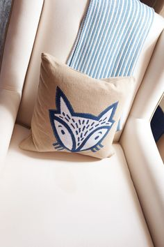 Fox Accent Pillow - we just love this fab pillow from @serenalilybaby!