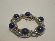 Georg Jensen Bracelet #57A  Lapis Lazuli Sterling Silver 925 - Mint #GeorgJensen #Beaded