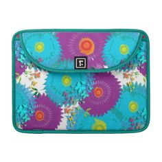 Bring the sunshine into your life with this beautiful purple and teal mix floral pattern. A very pretty design with big flowers and rainbow colored butterflies, a pretty and stylish way to protect your device.. #butterflies #flowers #floral #flowery #big-flowers #pretty-flowers #teal-purple #floral-graphic #cute #girly #summer #summery #summer-flowers #cases #sleeves #shells #feminine