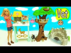 Animal Rescuer Barbie Vet Doll Takes Medical Care of Schleich Animals - YouTube