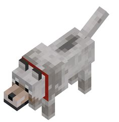 Info straight from the wiki: Wild wolves are usually neutral. Minecraft Skins Creeper, Minecraft Wolf, Minecraft Pictures, Minecraft Funny, Minecraft Stuff, Aliens, Angry Wolf, Minecraft Characters, Wolf Pictures