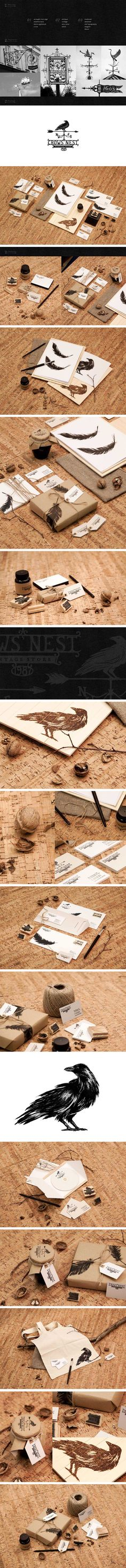 Love this simple beautiful Crow's Nest #packaging #branding marketing curated by Packaging Diva PD