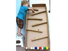 Keep Kids Busy Without Television -- Make a Ball Maze With Old Cardboard