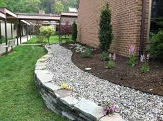 garden bed rock mulch - Google Search