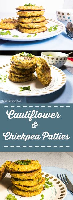 Cauliflower & Chickpea Patties are a healthy, vegetarian, gluten free pattie that is great served on a bun or cold as a snack.