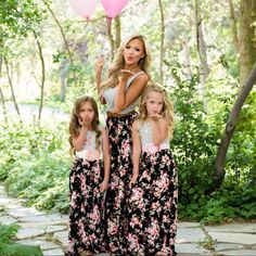 Mommy and Me Fashion Dresses Mother Daughter Dresses Floral Print Sleeveless Long Dress Summer Family Photo Shoot Clothing Dress. Mommy And Me Dresses, Mommy And Me Outfits, Mom Dress, Girl Outfits, Girls Dresses, Flower Girl Dresses, Summer Dresses, Bride Dresses, Summer Outfit