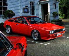 Red Lancia Scorpion