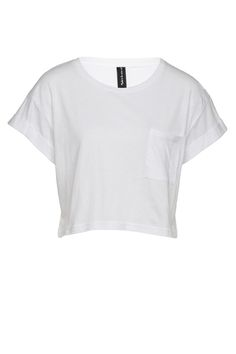 siren crop tee, WHITE
