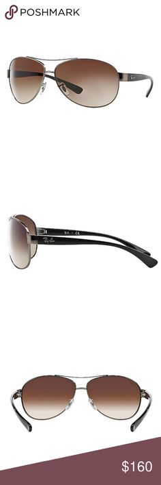 Ray-Ban Sunglasses Ray-Ban RB3386 features an oversized Aviator inspiration, modeled with a retro yet sporty sunglasses look. This Aviator interpretation features similar pilot lenses, but with a slightly softer contour that makes these sunglasses more feminine. UPC:805289204336 Model:RB3386 Color: 004/13 Size:63 Temple:130 Ray-Ban Accessories Sunglasses