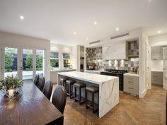 Aga cooker in modern kitchen