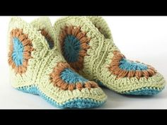 Hexagon Boot Slipper Crochet Lots Of Free Patterns Video Tutorial