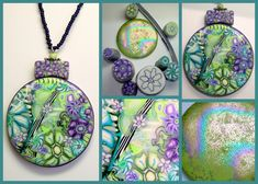 Polymer Clay Millifiore Floral Pendant-not very tutorial but interesting