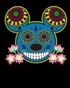 Mickey Mouse sugar skull