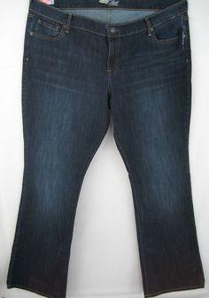 Old Navy The Flirt Plus Women's Boot Cut Blue Denim Jeans 18 Regular 44/32 NEW #OldNavy #BootCut