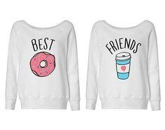 Meilleurs amis beigne et café Duo Wideneck par TeesAndTankYouShop                                                                                                                                                                                 Plus