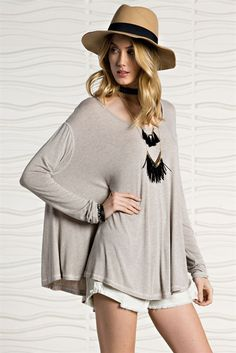 Formation Oversized Swing Tunic Top – The Laguna Room