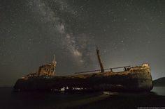 https://flic.kr/p/vrUQ81 | Ghost Ship II | The #MilkyWay over Dimitrios shipwreck at Gytheio, #Greece. © alexandrosmaragos.com | https://www.facebook.com/alexandrosmaragos