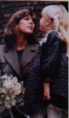 Caroline im Jahre 1984 - sie ist schwanger mit ihrem ersten Baby Andrea Albert