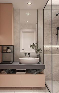 40 modern bathroom vanities that overflow with style - Badezimmer 2019 - Bathroom Decor Black Bathroom Taps, Small Bathroom, Bathroom Ideas, Bathroom Vanities, Washroom, Black Bathtub, Black Bathrooms, Bathroom Storage, Serene Bathroom