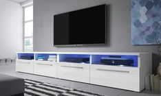 Siena Double TV Stand for TVs up to Selsey Living Finish: Matte White/Gloss Black Living Room Shelves, Living Room Tv, Living Room Interior, Dining Room, Glass Shelves Kitchen, Living Room Entertainment Center, Tv Set Design, Cabinet Dimensions, Tv Cabinets
