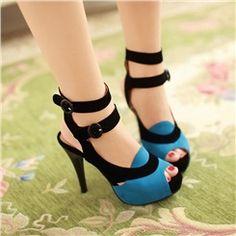 Shoespie Assorted Color Ankle Wrap  Buckle Dress Sandasl
