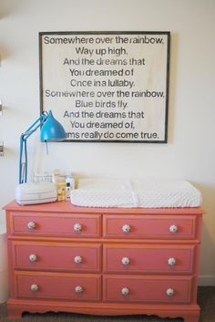 Love these lyrics for Baby Girl's room!