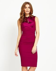 Womens berry bodycon dress from Lipsy - £98 at ClothingByColour.com