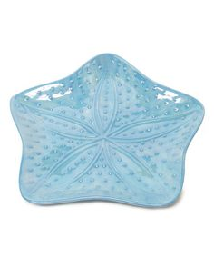 Take a look at this Blue Starfish Plate by Fancy That Gift & Décor on #zulily today!