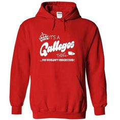Its a Gallegos thing, You Wouldnt Understand !! - #diy gift #wedding gift. BUY NOW => https://www.sunfrog.com/Names/Its-a-Gallegos-thing-You-Wouldnt-Understand-8251-Red-21490433-Hoodie.html?68278