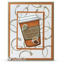 CARD: Pumpkin Spice Latte Season from the Merry Cafe Stamp Set – Part 1 of 2
