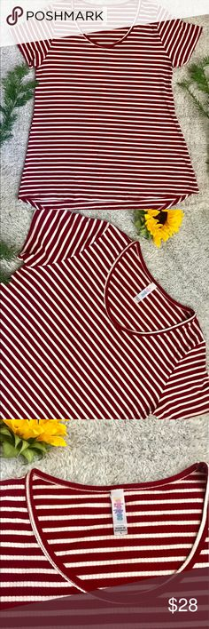 LuLaRoe Perfect Tee Super comfortable perfect tee. Great condition. Comes form a smoke feee home. LuLaRoe Tops Tees - Short Sleeve
