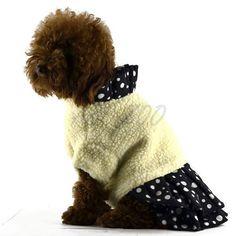Kislány kutyaruha, fekete - fehér, XL