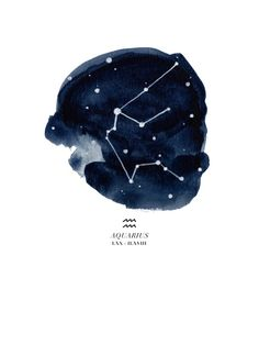 Zodiac Constellation - Aquarius Art Print by THE AESTATE | Society6