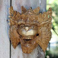 Wood mask, 'Monkey King Subali'