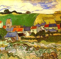 View of Auvers - Vincent van Gogh . Created in Auvers-sur-Oise in May - June, Located at Van Gogh Museum. Find a print of this Oil on Canvas Painting Claude Monet, Vincent Van Gogh, Van Gogh Museum, Art Van, Rembrandt, Desenhos Van Gogh, Van Gogh Arte, Van Gogh Pinturas, Van Gogh Paintings
