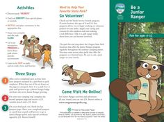 Be a junior ranger : fun for ages 6-12, by the Oregon State Parks and Recreation Department
