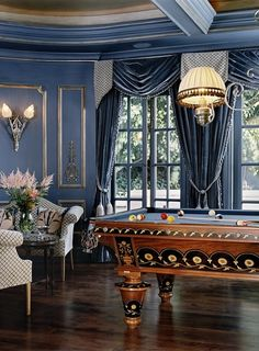 Baroque | Glam Design | Nailhead Chairs | Dark Dining Room | Room Design
