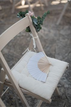 fans for winery wedding ceremony | Crete for Love